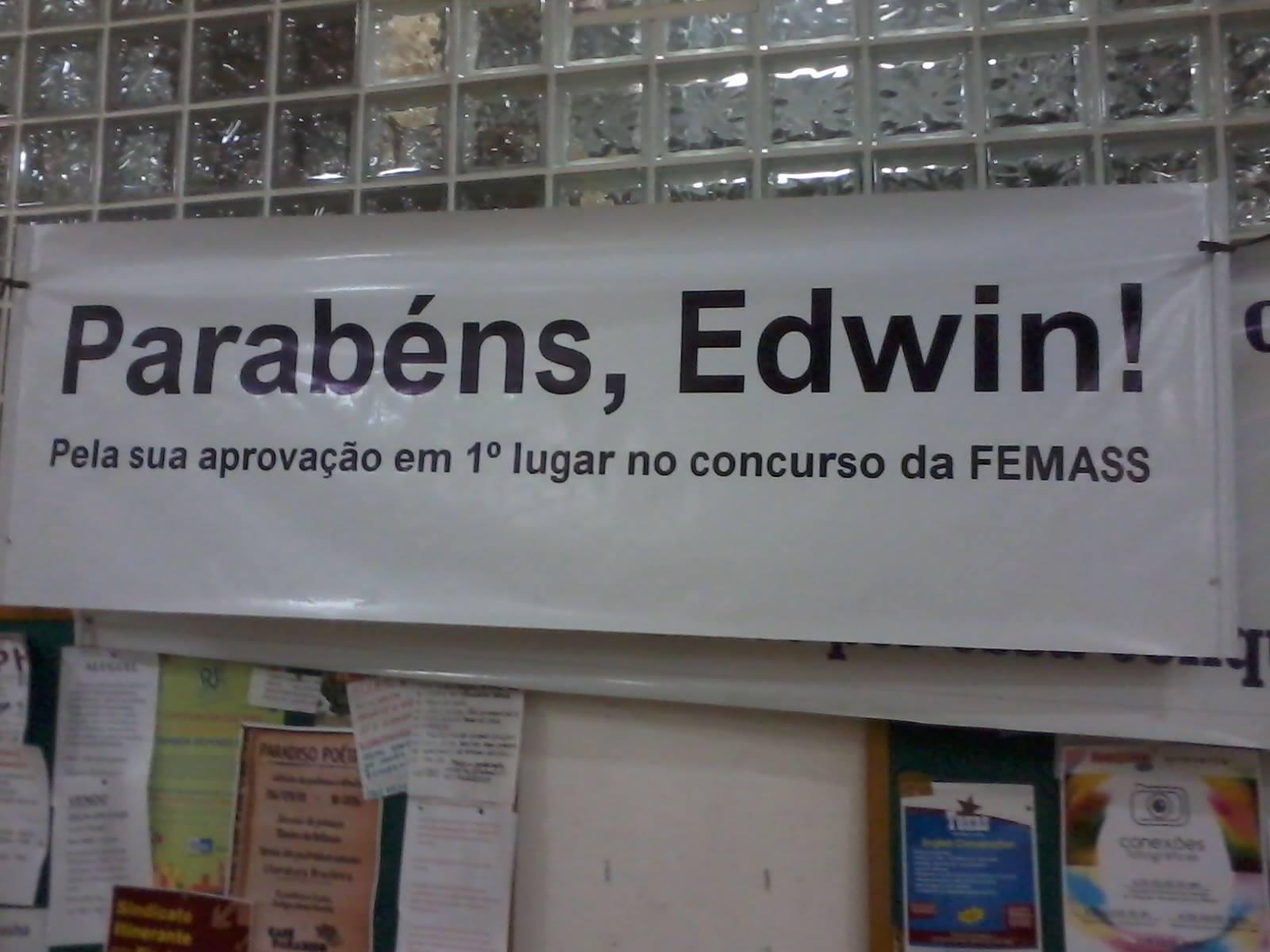 Parabéns Edwin